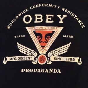 OBEY Worldwide conformity resistance propaganda T